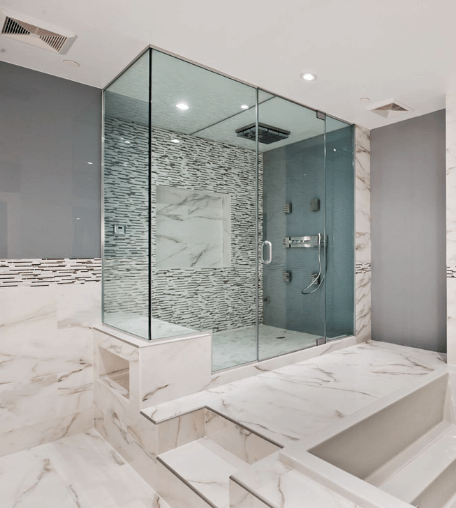 Worthy Of A Roman Emperor Italian Marble Shower Remodel